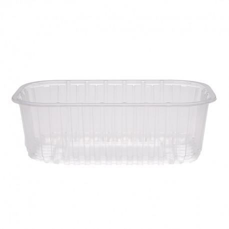 Barquette alimentaire plastique par 1400 pour conditionner 500g de fraises, prunes ou raisins