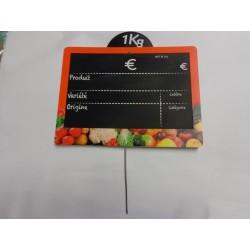 ardoise vitamine à pique 15x11cm orange