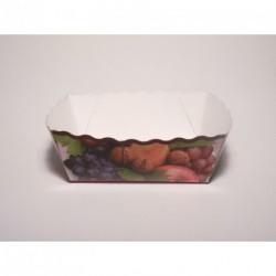 Barquette alimentaire fruits carton coloré par 100 pour 500gr